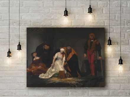 Paul Delaroche: The Execution of Lady Jane Grey. Fine Art Canvas.